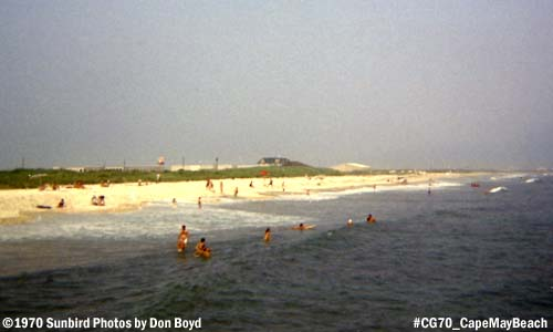 1970 - Coast Guard Recruit Training Center as seen from the public beach photo #CG70 Cape May Tracen beach_1