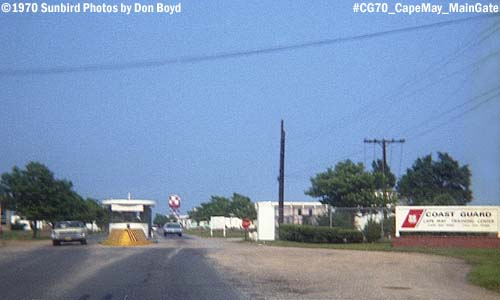 1970 - the Main Gate for the Coast Guard Recruit Training Center at Cape May, NJ in photo #CG70 Cape May Tracen MainGate
