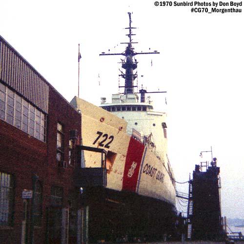 1970 - USCGC MORGENTHAU (WHEC 722) in drydock at the CG Yard photo #CG70 CGC Morgenthau