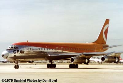 Canadian Pacific DC8-43 CF-CPF aviation stock photo #CNP CP DC8 CP-CPF