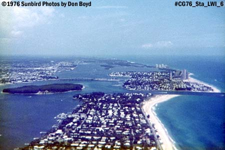 1976 - Coast Guard Station Lake Worth Inlet on Peanut Island and Palm Beach in foreground