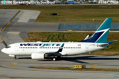 WestJet B737-76N C-FIWS aviation airline stock photo #7787