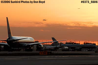 2006 - Sunset on the ramp at Miami International Airport stock photo #0373