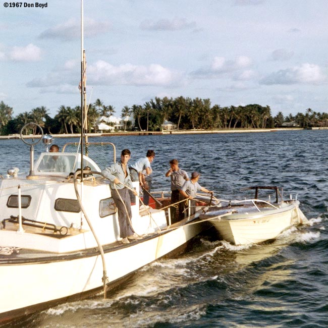 1967 - BM3 Alfred Hill, SN Mike Doller, SN Bruce, CS2 Pattison, EN3 Smith, SN Dennis Stuver at CG Station Lake Worth Inlet