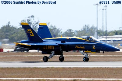 USN Blue Angel #3 takeoff at Opa-locka Airport military air show aviation stock photo #0931
