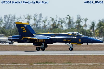 USN Blue Angel #3 takeoff at Opa-locka Airport military air show aviation stock photo #0932