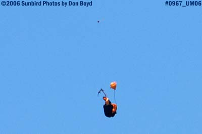 USA Golden Knights failed primary parachute falling to earth military air show aviation stock photo #0967