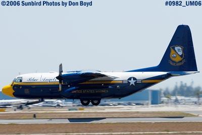 USMC Blue Angels C-130T Fat Albert (New Bert) #164763 takeoff military air show aviation stock photo #0982