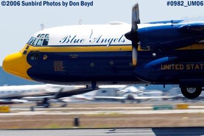 USMC Blue Angels C-130T Fat Albert (New Bert) #164763 takeoff military air show aviation stock photo #0982C