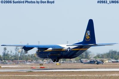 USMC Blue Angels C-130T Fat Albert (New Bert) #164763 takeoff military air show aviation stock photo #0983