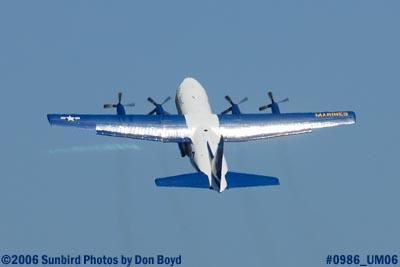 USMC Blue Angels C-130T Fat Albert (New Bert) #164763 takeoff military air show aviation stock photo #0986