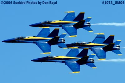 USN Blue Angels at 2006 Air & Sea practice show military air show stock photo #1078