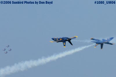 USN Blue Angels at 2006 Air & Sea practice show military air show stock photo #1080