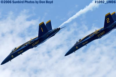 USN Blue Angels at 2006 Air & Sea practice show military air show stock photo #1092