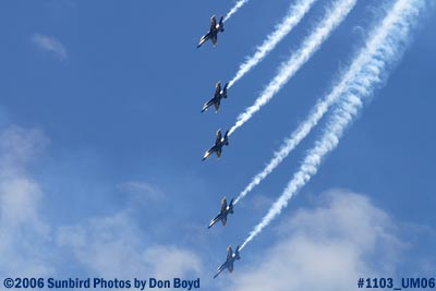 USN Blue Angels at 2006 Air & Sea practice show military air show stock photo #1103