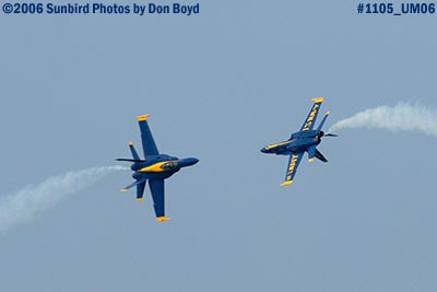 USN Blue Angels at 2006 Air & Sea practice show military air show stock photo #1105