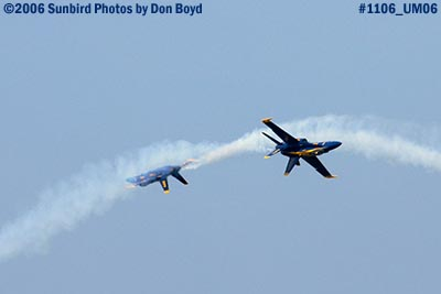 USN Blue Angels at 2006 Air & Sea practice show military air show stock photo #1106