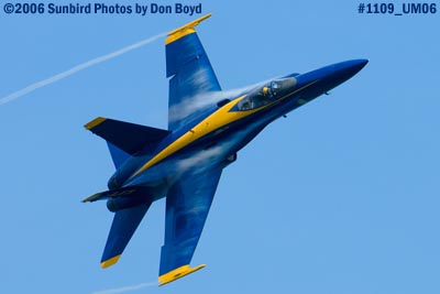 USN Blue Angel #5 at 2006 Air & Sea practice show military air show stock photo #1109