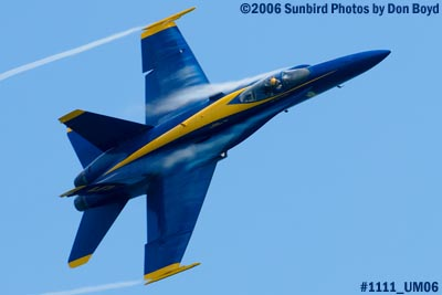 USN Blue Angel #5 at 2006 Air & Sea practice show military air show stock photo #1111