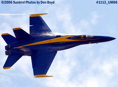 USN Blue Angel #5 at 2006 Air & Sea practice show military air show stock photo #1113