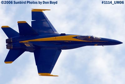 USN Blue Angel #5 at 2006 Air & Sea practice show military air show stock photo #1114