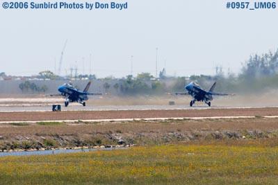 USN Blue Angels takeoff at Opa-locka Airport air show aviation stock photo #0957
