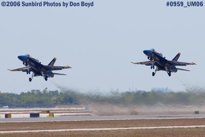 USN Blue Angels takeoff at Opa-locka Airport air show aviation stock photo #0959