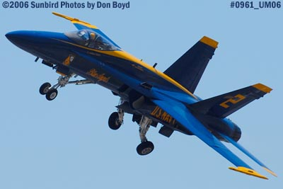 USN Blue Angels #2 takeoff at Opa-locka Airport air show aviation stock photo #0961