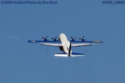 USMC Blue Angels C-130T Fat Albert (New Bert) #164763 takeoff military air show aviation stock photo #0989