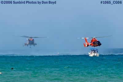 2006 - USCG HH-60J Jayhawk #CG-6039 and HH-65 Dolphin #CG-6577 military air show aviation stock photo #1065