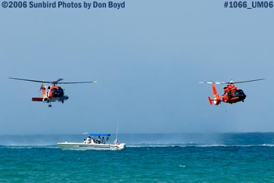 2006 - USCG HH-60J Jayhawk #6039 and HH-65 Dolphin #6577 military air show aviation stock photo #1066
