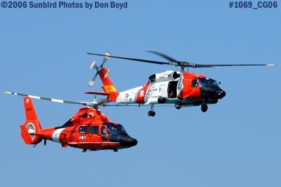 2006 - USCG HH-65 Dolphin #CG-6577 and HH-60J Jayhawk #CG-6039 military air show aviation stock photo #1069