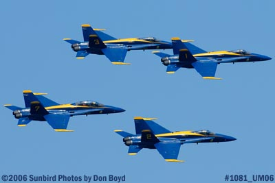 USN Blue Angels at 2006 Air & Sea practice show military air show aviation stock photo #1081