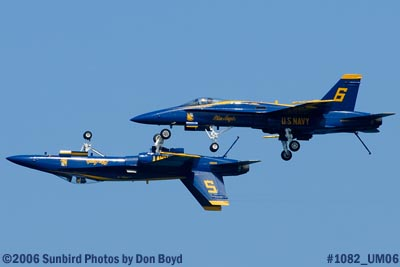 USN Blue Angels at 2006 Air & Sea practice show military air show aviation stock photo #1082