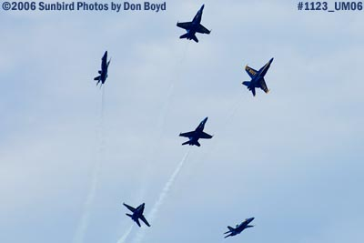 USN Blue Angels at 2006 Air & Sea practice show military air show aviation stock photo #1123