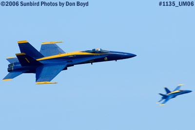 USN Blue Angels at 2006 Air & Sea practice show military air show aviation stock photo #1135