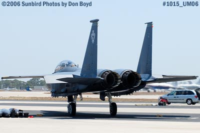USAF McDonnell Douglas F-15E-44-MC Strike Eagle #AF87-0199 military air show stock photo #1015