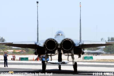 USAF McDonnell Douglas F-15E-44-MC Strike Eagle #AF87-0199 military air show stock photo #1018