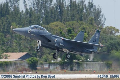 USAF McDonnell Douglas F-15E-44-MC Strike Eagle #AF87-0199 takeoff at Opa-locka Airport military air show stock photo #1046