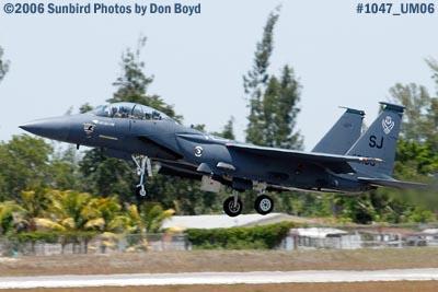 USAF McDonnell Douglas F-15E-44-MC Strike Eagle #AF87-0199 takeoff at Opa-locka Airport military air show stock photo #1047