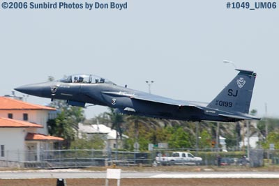 USAF McDonnell Douglas F-15E-44-MC Strike Eagle #AF87-0199  takeoff at Opa-locka Airport military air show stock photo #1049