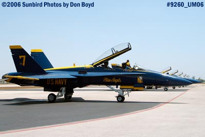 USN Blue Angels #7 F/A-18 Hornet military air show aviation stock photo #9260