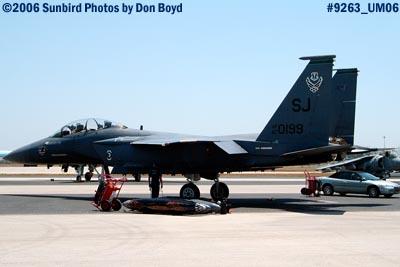 USAF McDonnell Douglas F-15E-44-MC Strike Eagle #AF87-0199 military air show stock photo #9263