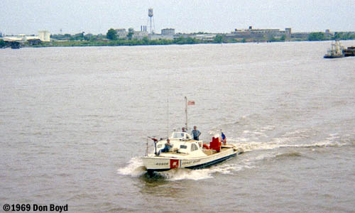 1969 - USCG 40-foot patrol boat #CG-40506 stock photo