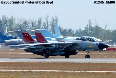 USN Grumman F-14D-170-GR Tomcat #164603 takeoff military aviation air show stock photo #1245