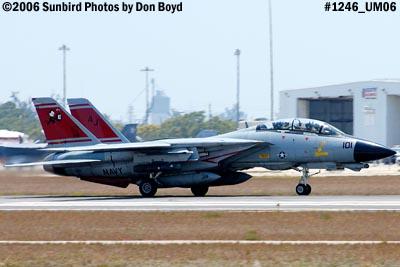 USN Grumman F-14D-170-GR Tomcat #164603 takeoff military aviation air show stock photo #1246