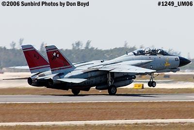 USN Grumman F-14D-170-GR Tomcat #164603 takeoff military aviation air show stock photo #1249