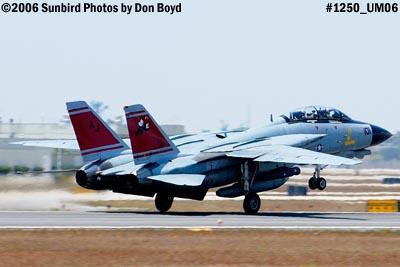 USN Grumman F-14D-170-GR Tomcat #164603 takeoff military aviation air show stock photo #1250