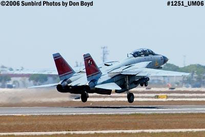 USN Grumman F-14D-170-GR Tomcat #164603 takeoff military aviation air show stock photo #1251