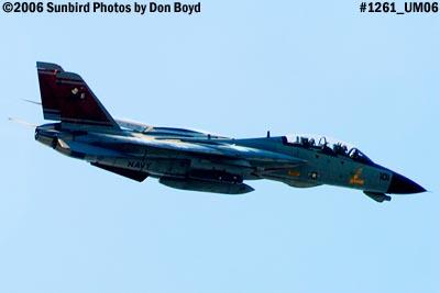 USN Grumman F-14D-170-GR Tomcat #164603 fly-by military aviation air show stock photo #1261